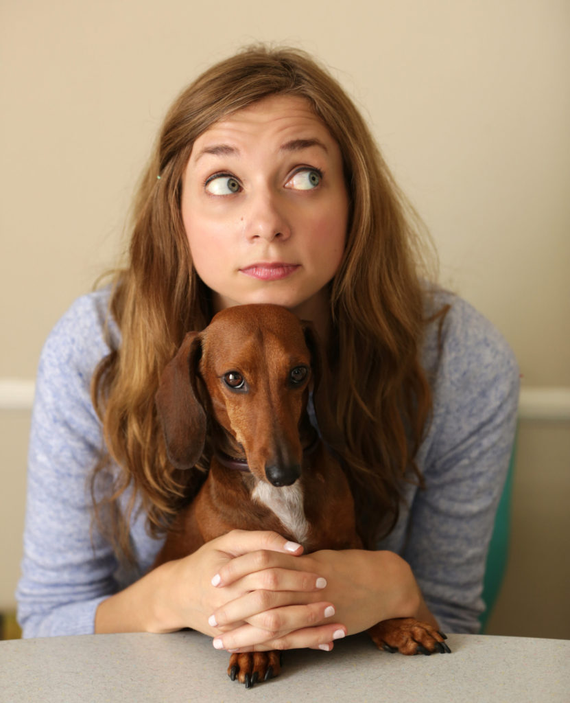 Actress and comedian Lauren Lapkus hates playing herself. And so does her dog, Franny pup.