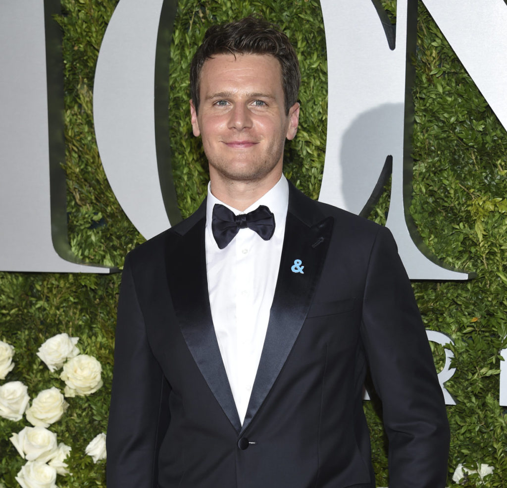 Jonathan Groff arrives at the 71st annual Tony Awards. What a babe!