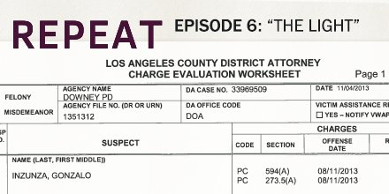 Excerpts from a Los Angeles County District Attorney charge evaluation worksheet.